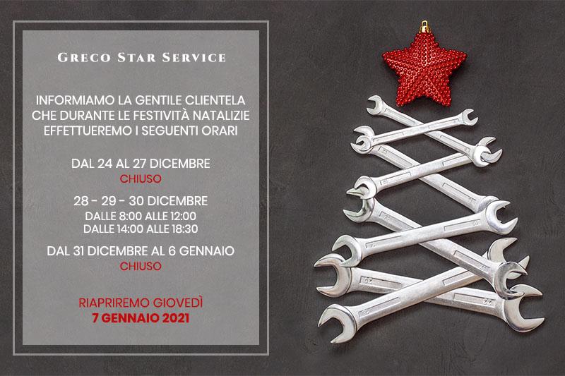 Greco Star Service - Chiusura Invernale 2020/2021